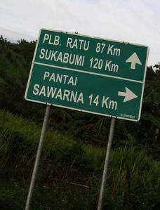 Jalur Menuju Sawarna
